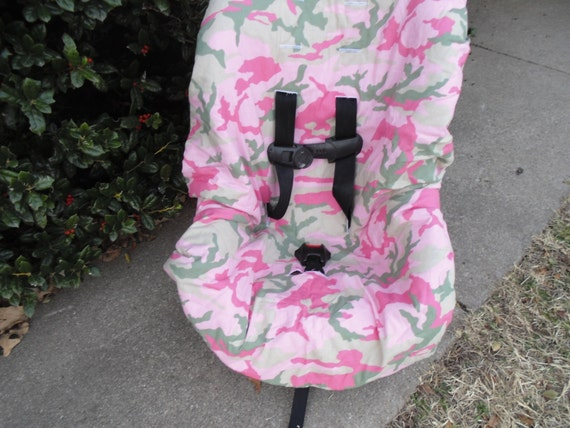 Pink Camo Toddler Car Seat Cover Not Included
