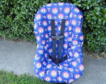 Texas Rangers toddler car seat cover