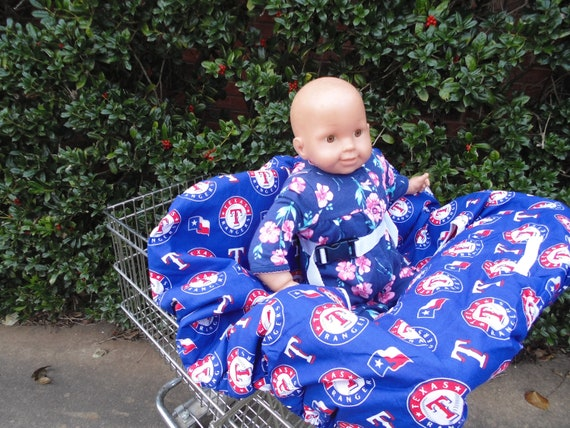 Awesome Texas Ranger Baby Shopping Cart Cover High Chair Cover Alphanode Cool Chair Designs And Ideas Alphanodeonline