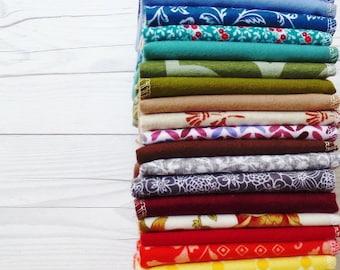 10 Autumn Cloth Napkins Mixed Thanksgiving Napkins Unpaper Towels Everyday Napkin Cloth Paper Towel Reusable Sustainable Eco Friendly Cotton