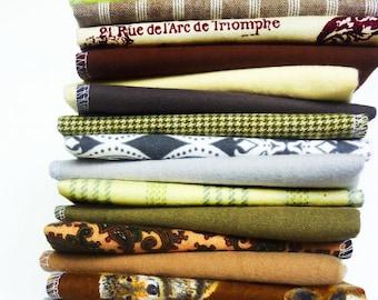 10 Neutral Cloth Napkins Cloth Unpaper Towels Mixed Natural Hues Reusable Paper Towels - Fabric Napkins - Cloth Paper Towels Mixed Set cb
