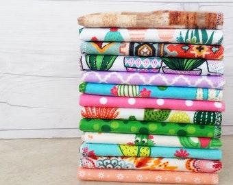 Cactus Plant Womens Handkerchief Set Southwestern 100 Cotton Flannel Ladies Hankerchief Reusable Kleenex Eco Friendly Tissue Mother Day Gift