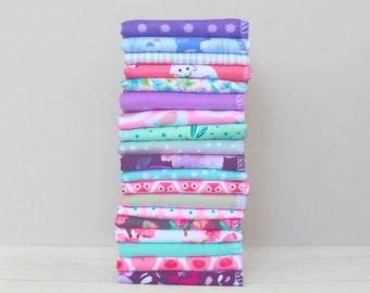 Organic Womens Handkerchief Set 100% Cotton Flannel Hankerchief Ladies Hankies Reusable Tissues Soft Flannel Sustainable Mothers Day Gift