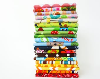 Kids Cloth Napkins Mixed Patterns Childrens Napkin Back to School Lunch Napkin Fall Forest Thanksgiving Napkins Gender Neutral Animal Prints