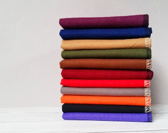 Mens Handkerchief Set Dark Colors EDC Hank Flannel Soft 100% Cotton Hankerchief Eco Tissue Paperless Fathers Day Gift for Men Hankies