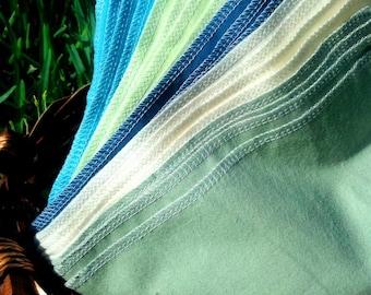 10 Blue Cloth Napkins Eco Friendly Unpaper Towel Reusable Sustainable Lunch Box Party Napkin Cloth Reusable Paper Towel Kids Zero Waste cb