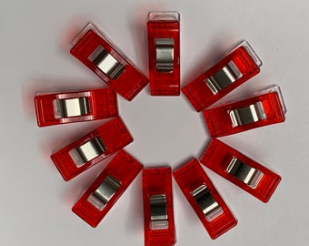 Clover Mini Wonder Clips-Red /& Blue 20//Pkg