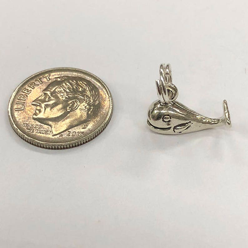 perfect for many artistic creations! Sterling Silver whale