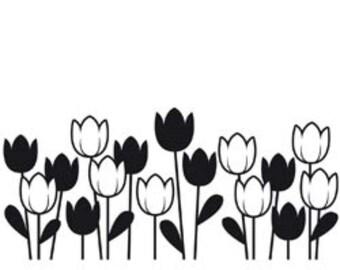 Darice A2 Embossing Folder Spring Tulips 1218-44