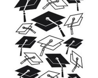 Darice A2 Embossing Folder Graduation Hat Background 1218-48