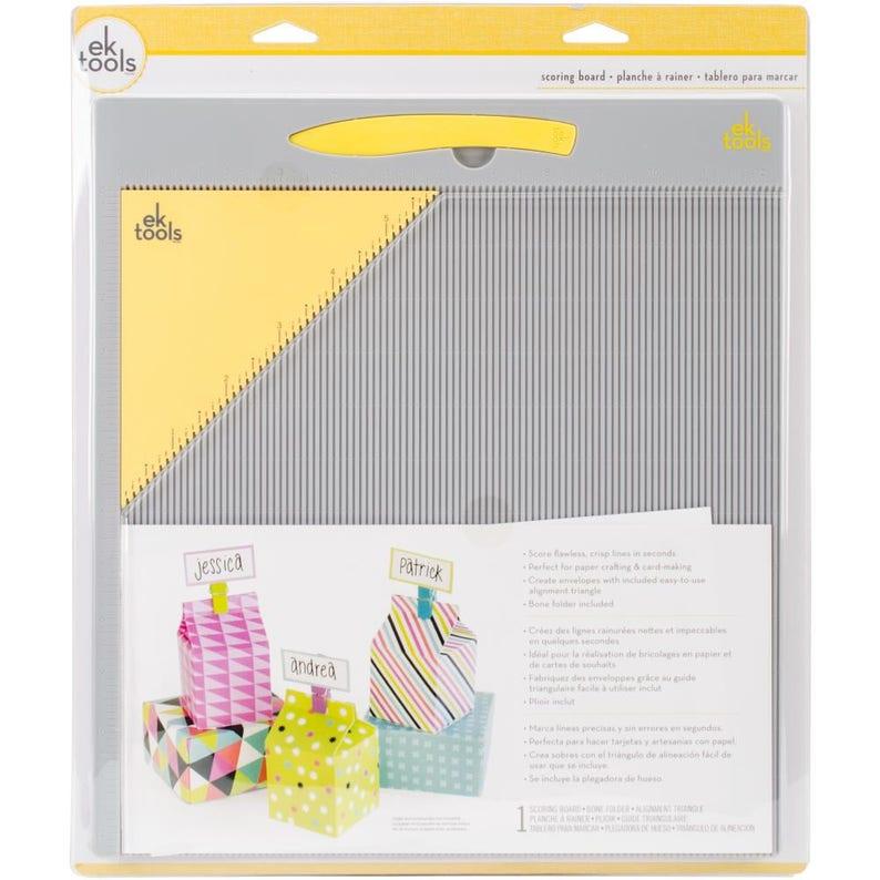 EK Tools Scoring Board 12x12 with Bone Folder & alignment Triangle for  Envelopes