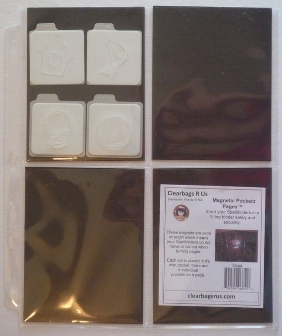 QuicKutz 2x2 Storage Sleeves Pocketz Pages holds 100 dies 20p//10s