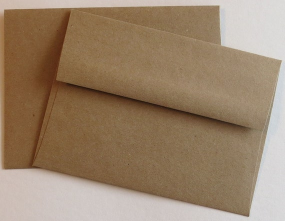 """50 Brown Bag Grocery Bag Envelopes Square Flap 5/"""" x 5/"""" 100/% Recycled BBE5 ~"""