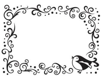 Darice A2 Embossing Folder Bird in Border 1216-63