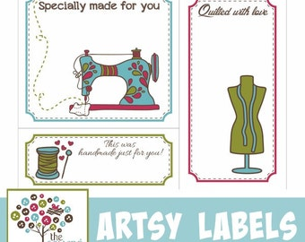 Quilt label template | Etsy