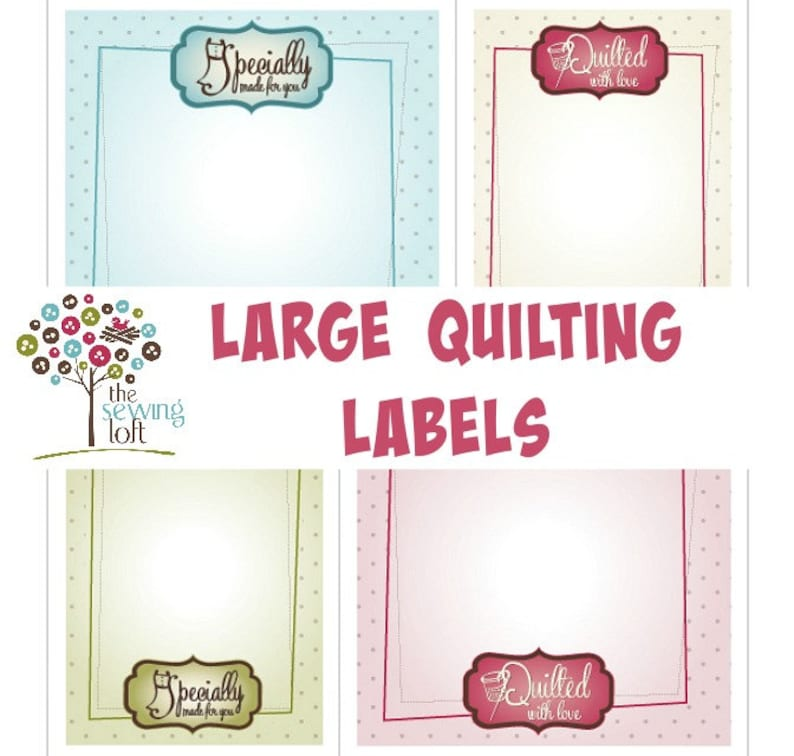 graphic about Printable Quilt Labels named Substantial Printable Quilt and Sewing Labels