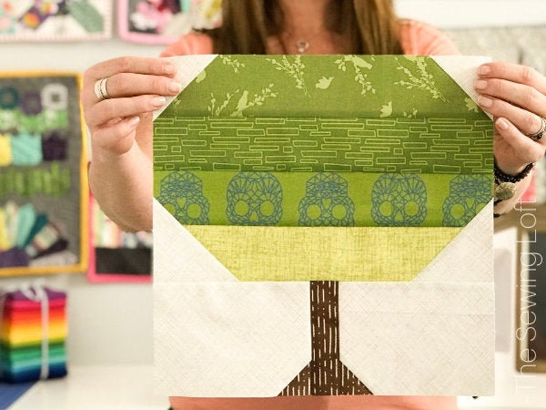 Tree Quilt Block Pattern  PDF Includes instructions for 6 image 0