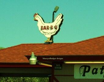 B B Q chicken, Patillo's BBQ, Beaumont, Texas, color photography, PoM team, PoE team