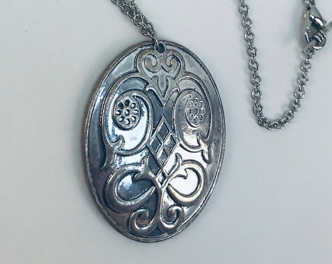 Silver Celtic Oval Charm Necklace ready to ship gift