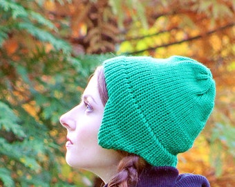Green Ear Flap Hat For Men Women, Girls, Boys Or Teens Ready to Ship  Gift
