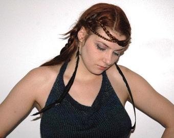 Feather Earrings Long  Raven Black Handmade Jewelry