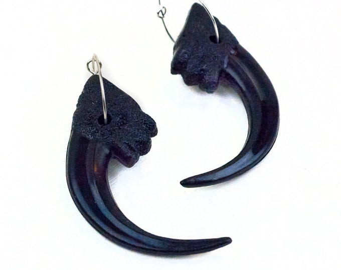 Velociraptor Claw Statement Earrings Dinosaur Eagle Jewelry Accessories