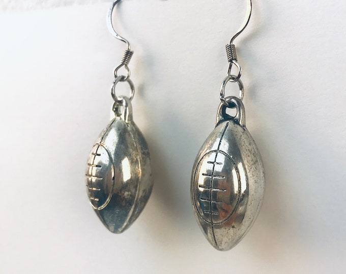 Football Earrings Handmade Dangle Jewelry Girlfriend Gift