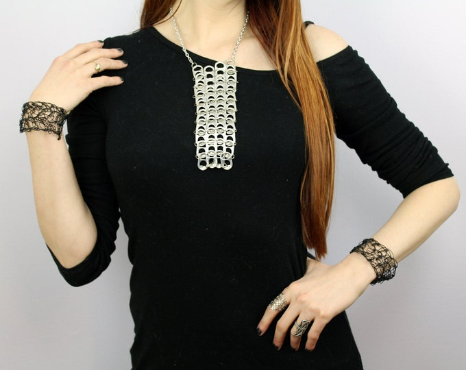 Rectangle Pop Tab  Necklace Long Vertical