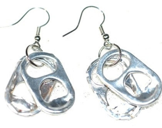 Soda Tab Silver Earrings