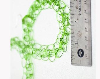 Gold Crochet Hoop Circle Wire Earrings