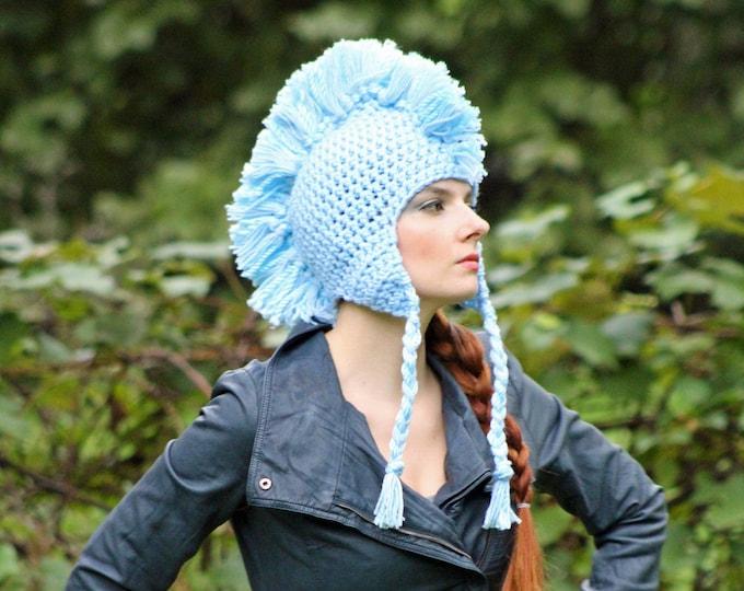 Baby Blue Mohawk Hat