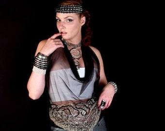 Crochet Metal  Pop Tab Chainmaille Headband