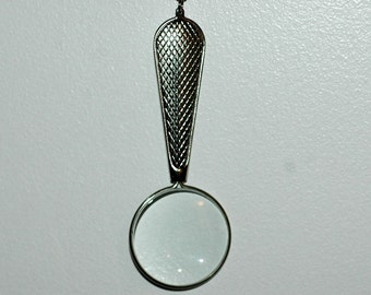 Magnifying Glass Necklace Christmas Gift for Grandpa Ready to Ship Handmade