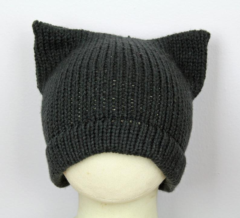 71be43c35b4 Black Pussy Hat Slouchy Cap for Men Cat Kitten Hat Pink Ear