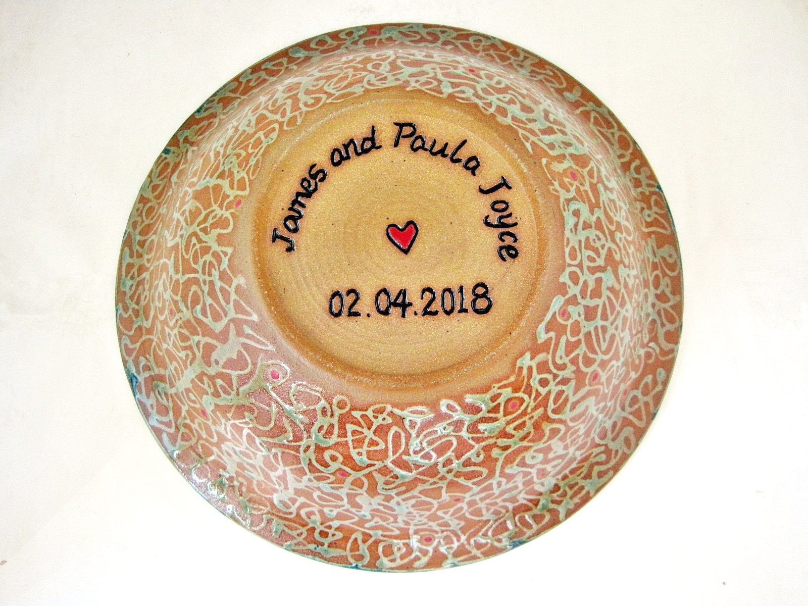 Pottery Wedding Gifts: Personalized Wedding Bowl Pottery Wedding Gift Gift For