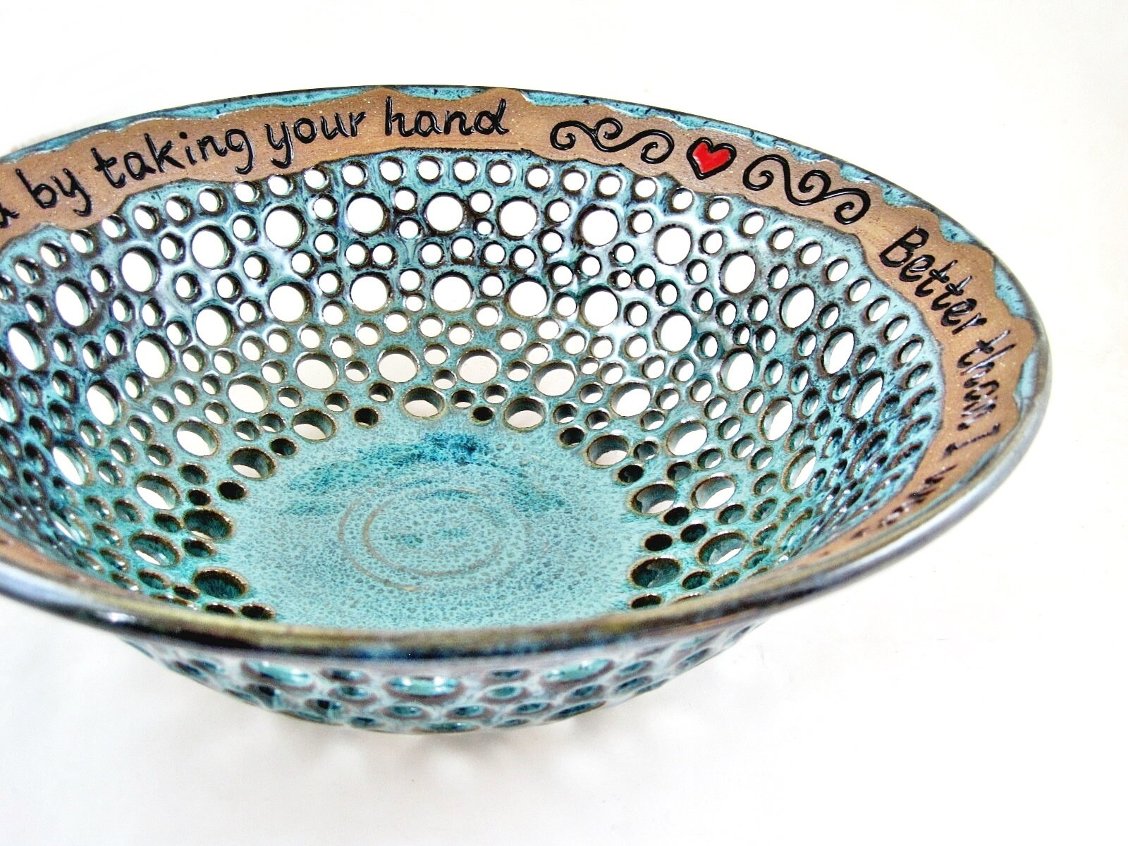 9th Anniversary Pottery For Wedding: Pottery 9th Anniversary Gift Pottery Fruit Bowl Wedding