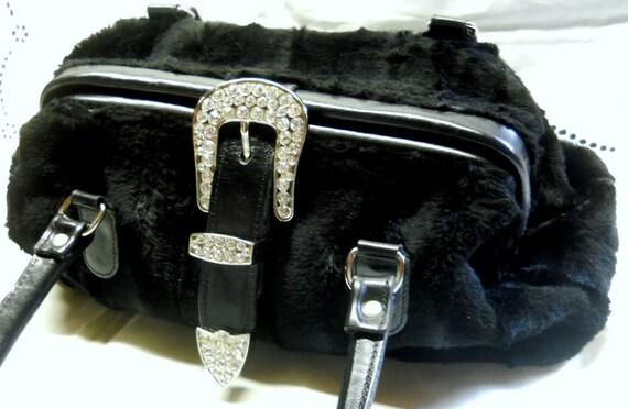 Raviani by B.B Simon Vintage Handbag Lambswool Fau