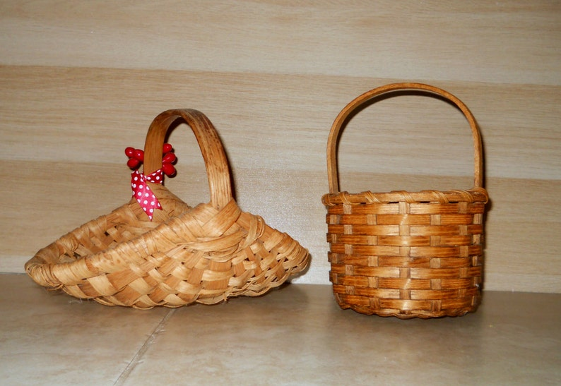 two home decor buttocks style baskets one small.htm sale vintage baskets small sweet farmhouse splint baskets etsy  small sweet farmhouse splint baskets