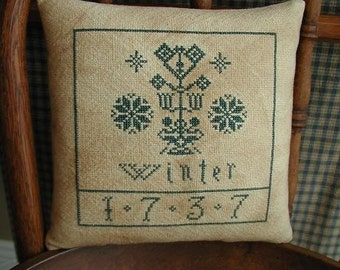 Primitive Cross Stitch Pattern WINTER 1737
