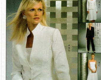 McCall's Non-Stop Wardrobe Pattern M5008 - Misses/Miss Petite Lined Jacket and Top, Skirt and Pants