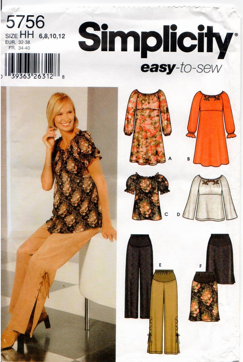 06af727cc96d8 Simplicity UNCUT Easy-to-Sew Maternity Pattern 5756 Misses | Etsy