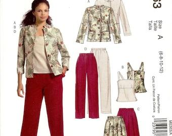 McCall's Easy Stitch 'n Save Pattern M5363 Misses/Miss Petite Jacket, Top, Skirt & Pants 6-12 UNCUT