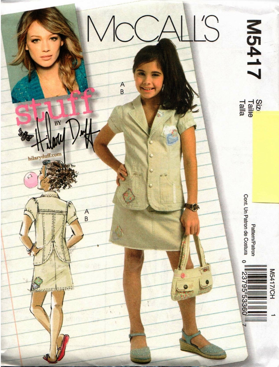 Ask Hilary Where Can I Find Kirstie Allsopp S Dress: UNCUT Hilary Duff McCall's Pattern M5417 Girls Jacket &