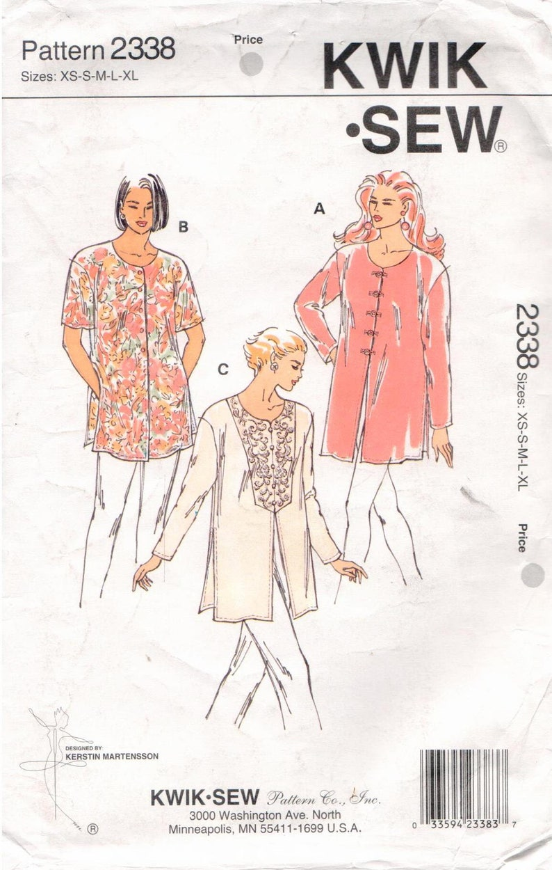Misses/' Dresses Jumper Slip CHOICE Kwik Sew Kerstin Martensson UNCUT Patterns