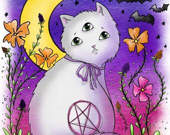 Sage the Kitty Print