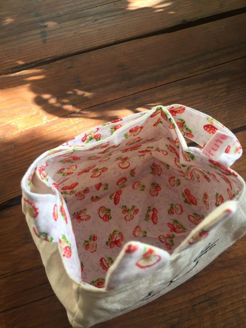 animal gift bag freemotion sewn printed cotton lining gift bag Kitty Cat Bag purse animal bag custom bag cat tote Easter egg bag,