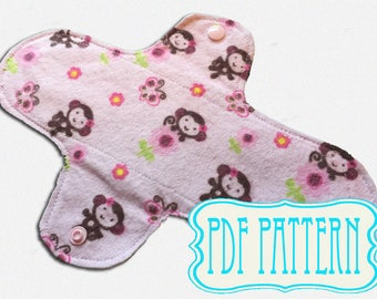 Sanitary pad PDF: Tutorial and pattern, washable panty liner, cloth sanitary towel, sew your own, pdf tutorial pdf pattern pant liner