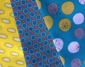 Anna Maria Horner, Jay-Cyn Designer Fabric Bundle Geometric Blues & Yellows