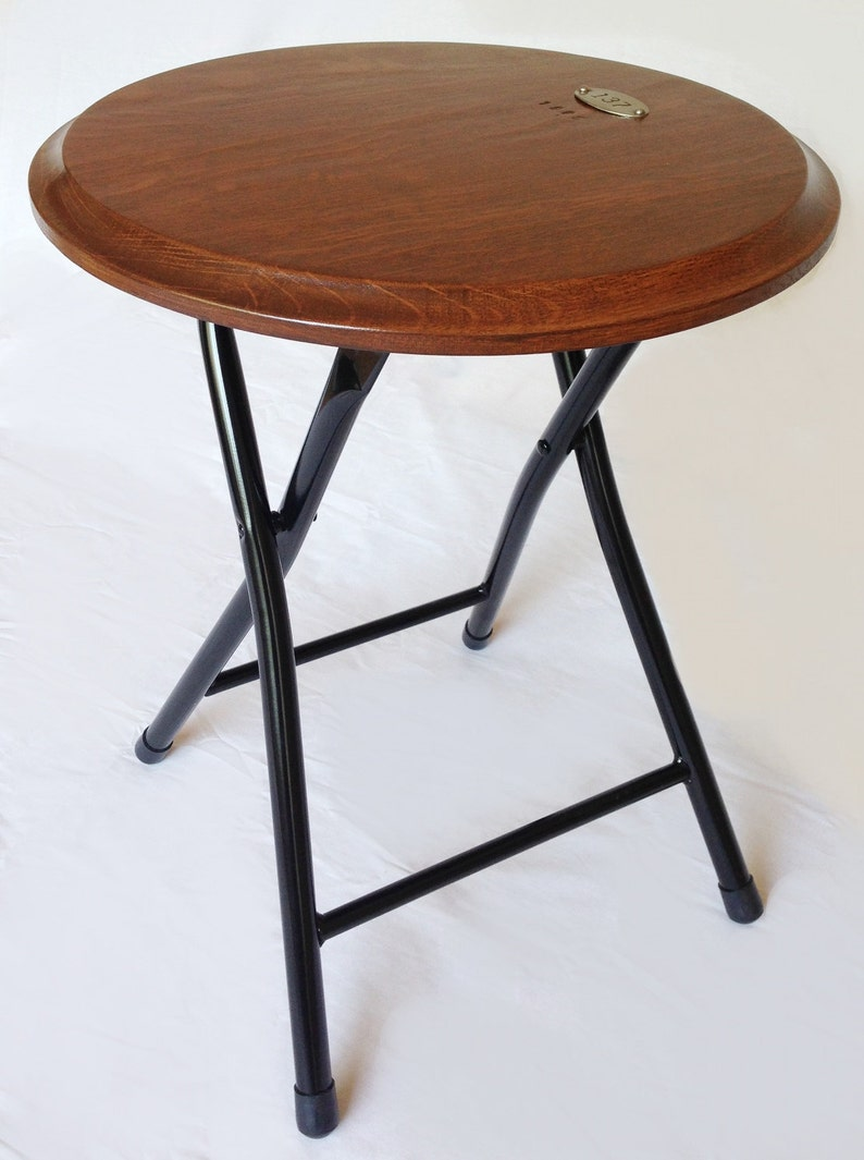 Ace collapsible folding stool or end side table recycled image 0