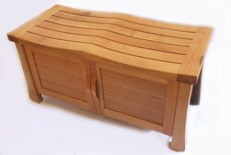 Golden Gate oak cabinet large bench recycled wine vats image 0
